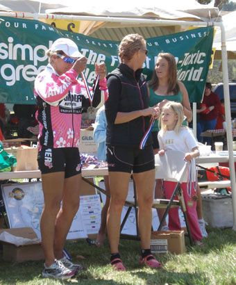 Suzi Degazon does the Bonelli Triathlon