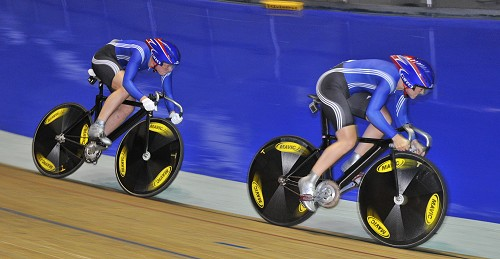 The highlight of Day 2 at the National Track Championships came when Jess Varnish and Becky James became the new Women's Team Sprint National Champions after beating City of Edinburgh A in the final. photo British Cycling