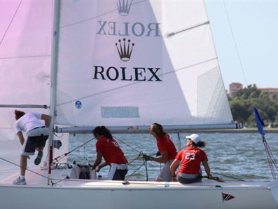 Italy's Giulia Conti won the 2009 Rolex Osprey Cup – one of only two ISAF Grade 1 women's match racing events in the U.S. – held at the St. Petersburg Yacht Club (St. Petersburg, Fla.), from October 21-24.