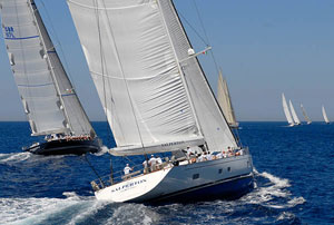 Salperton racing at the 2008 Boat International Superyacht Regatta hosted by Yacht Club Costa Smeralda""