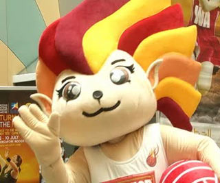 With 97 days to go to the start of the 2011 World Championships, Netball Singapore today (Friday) unveiled the mascot for the competition.