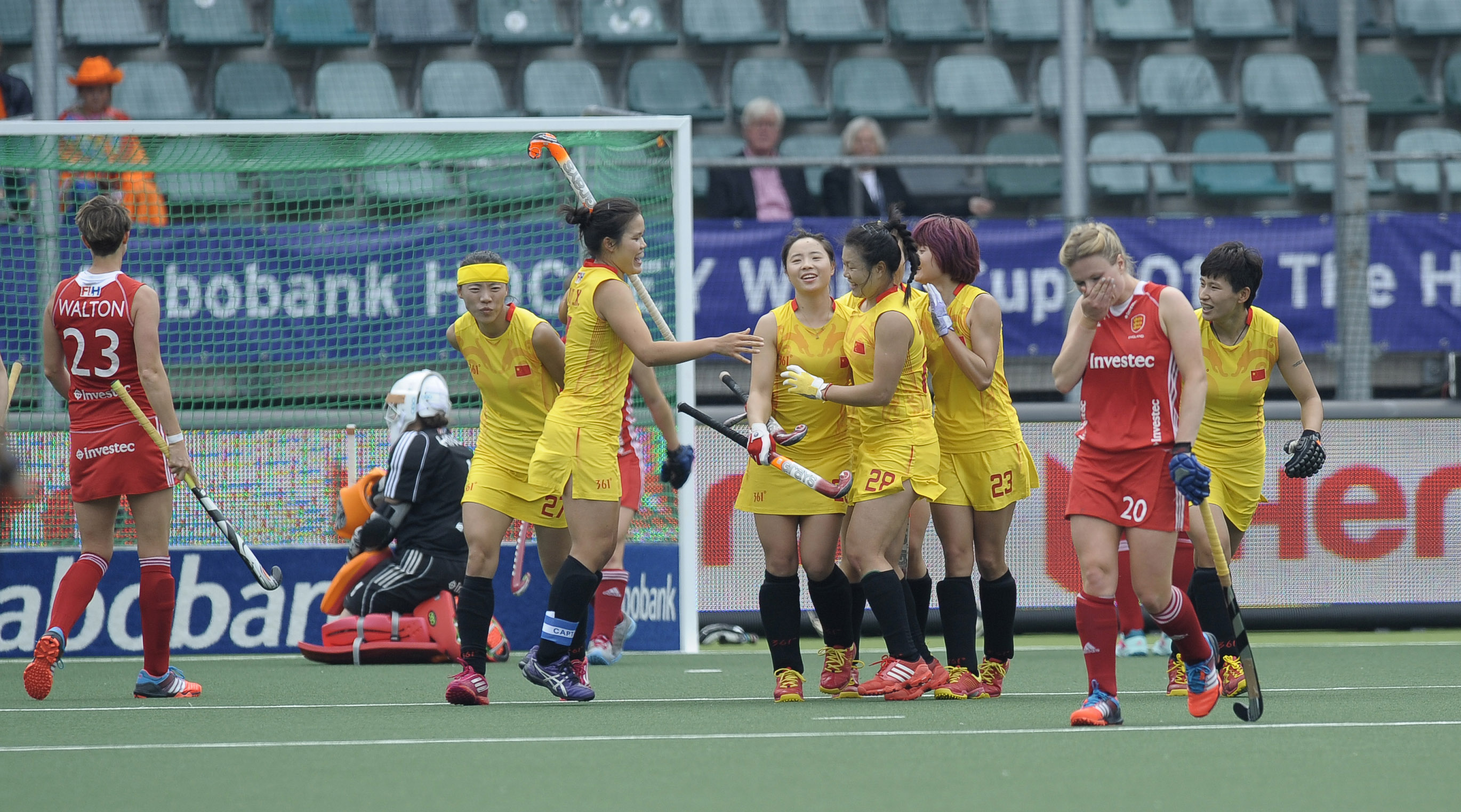 China celebrate scoring against England at the Rabobank World Cup - credit Ady Kerry.jpg
