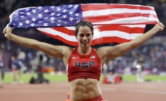 Olympic pole vault champion Jenn Suhr was pleased to have landed her gold medal, which she hopes to defend in Rio 2016 and praised the