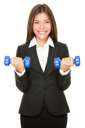 Corporate Fitness or office workout