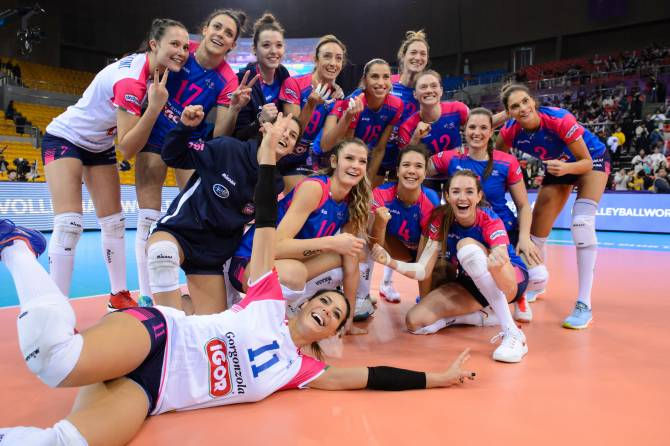 Women sport news - Brakocevic powers second five-set win for Novara in Shaoxing
