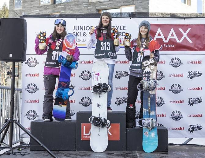 Women sport news - : LAAX - 2017 Junior World Champion Halfpipe is Wicki