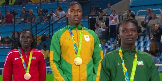 Women sport news - Castor Semenya wins Olympic 800m Gold