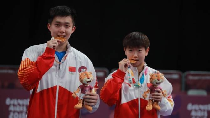 Women sport news - China's SUN Yingsha & WANG Chuqin Crowned Youth Olympic Champions