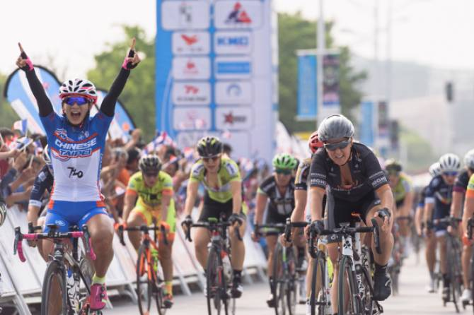 Women sport news - Chloe Hosking Third In Chaotic Chongming Island Stage One Sprint