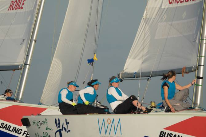 Women sport news - Crisp Autumn Sailing at Busan Women's Match