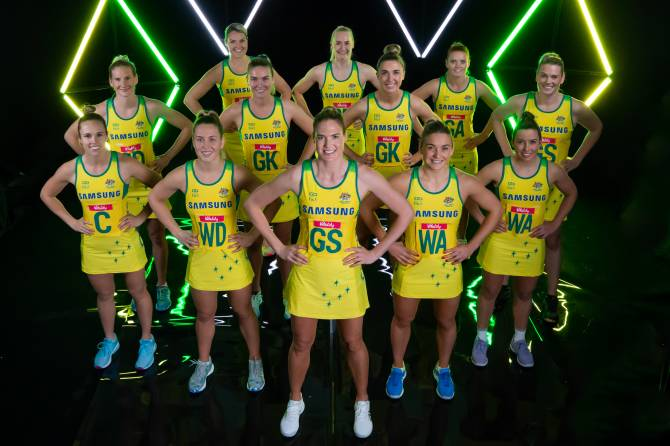 DIAMONDS PAY TRIBUTE TO THE PAST WITH NETBALL WORLD CUP UNIFORM