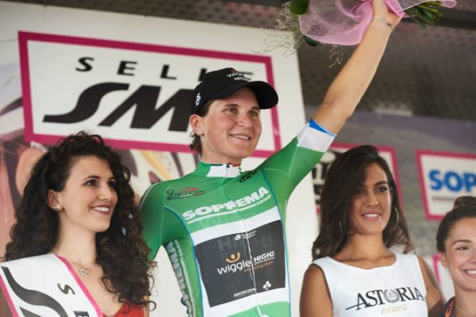 Women sport news - Elisa Longo Borghini Takes Blue And Green Jerseys In Giro Rosa Stage 4