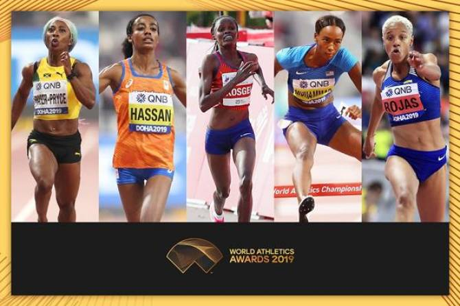 Finalists announced for Female World Athlete of the Year 2019