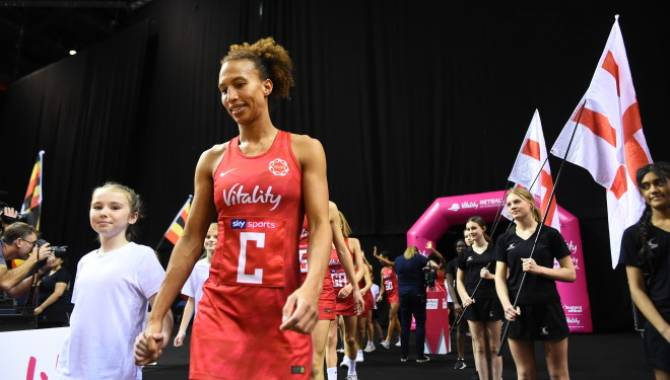 Women sport news - First match of the Vitality Netball International Series goes to the Roses
