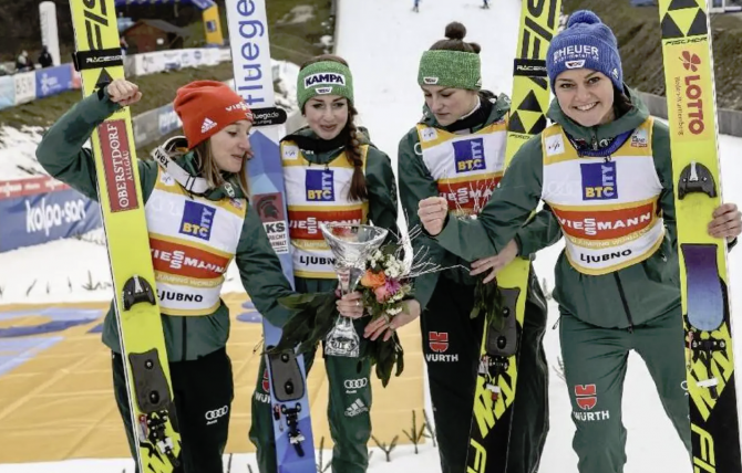 Women sport news - German ladies dominate in Ljubno