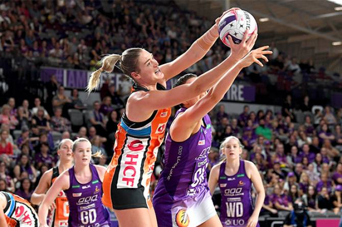 Giants defeat Thunderbirds in Suncorp Netball League