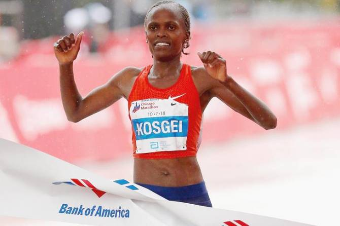 Women sport news - Kosgei smashes marathon world record in Chicago