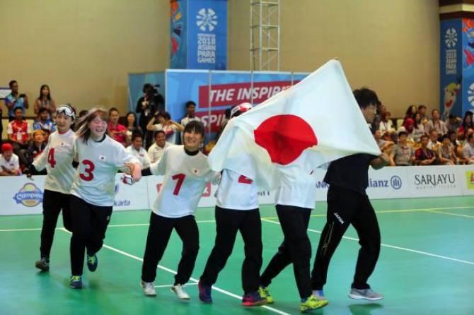 Women sport news - Japan women's goalball team named Allianz Athlete of the Month