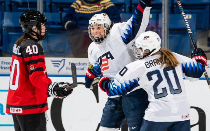 Women sport news - Knight nets two goals as U.S. tops Canada, 5-2