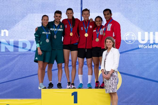 Women sport news - LASER RUN GOLD FOR OLYMPIC IDOL NOWACKA (POL)