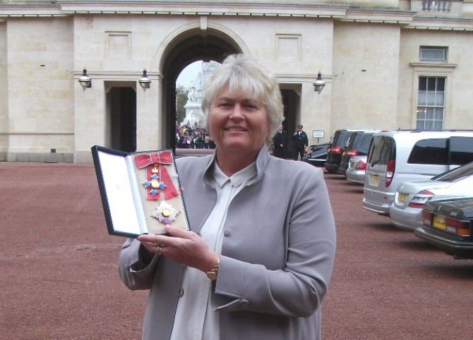 Women sport news - Laura Davies Receives Damehood at Buckingham Palace
