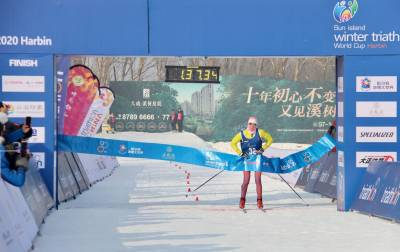 Women sport news - Podium sweep for Russia-debut of the Winter Triathlon World Cups