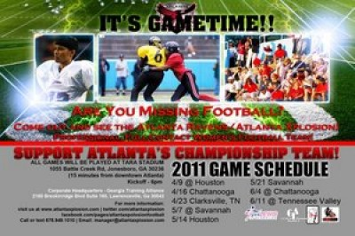 Women sport news - Atlanta Xplosion women's professional tackle football team moves to Clayton County