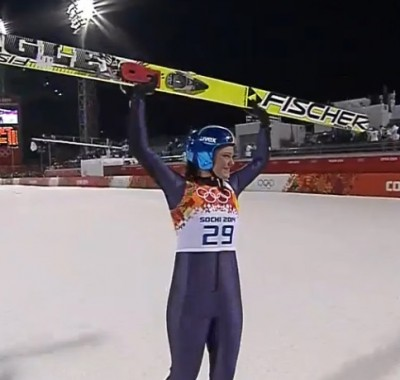 Women sport news - Carina Vogt wins the first ever Women's Ski Jump Gold Medal in Sochi