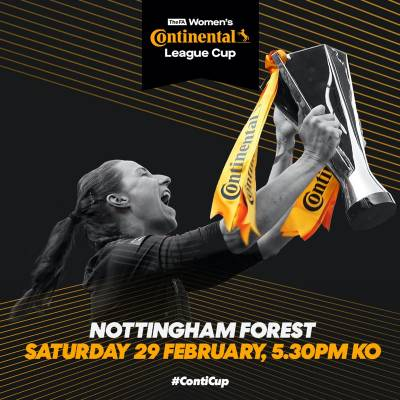 Women sport news - Conti Cup Final to be held at Forest