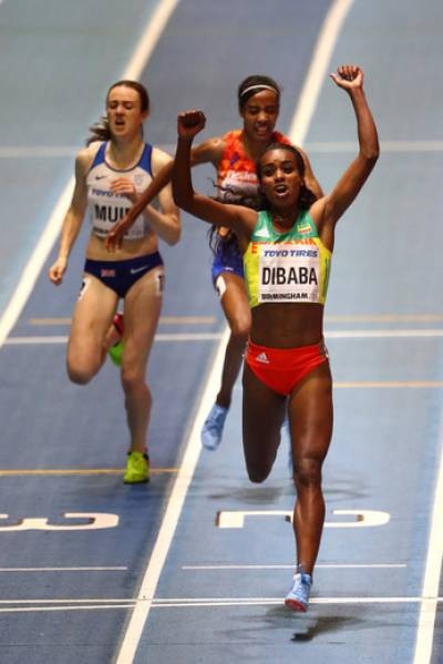Women sport news - Dibaba does the double at The Indoor World Championships in Birmingham