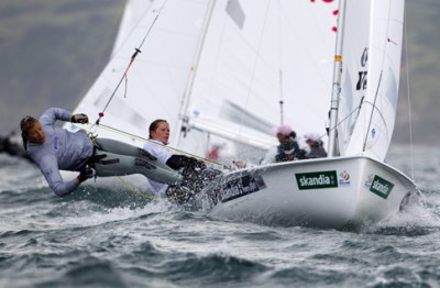 Women sport news - GBR sailors improve on a breezy second day at Skandia Sail for Gold