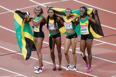 Women sport news - Jamaica 4x400m quartet steal gold in the relay final