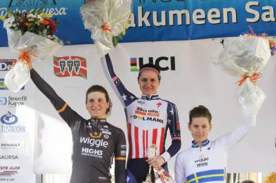 Women sport news - Longo Borghini And Johansson Second And Third In Attritional Durango-Durango Race