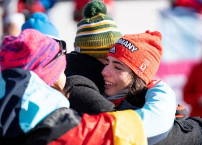 Women sport news - Merle Malou Fraebel wins the women's singles luge competition in Lusanne