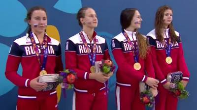 Women sport news - Record-breaking Astashkina wins triple gold in pool