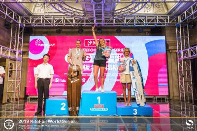 Women sport news - Teenage duo seize three consecutive tour stop victories apiece at KiteFoil World Series in China