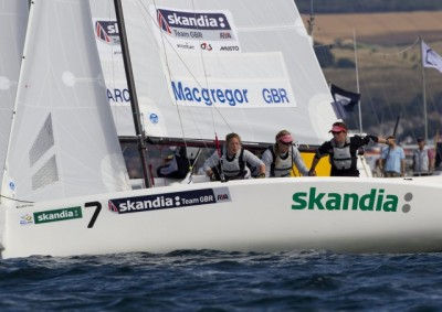 Women sport news - Tough first day at the office for GBR Match Race Girls
