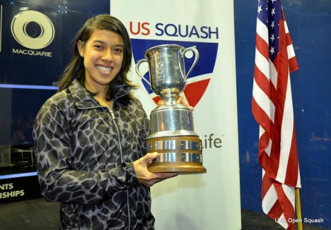 Women sport news - Nicol David Celebrates Unique World Ranking Century