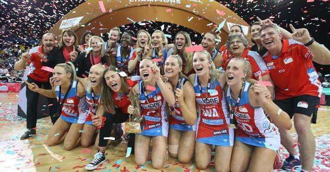 Women sport news - NSW Swifts 2019 Suncorp Super Netball Champions