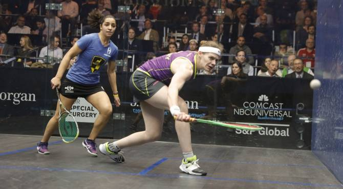 Women sport news - Perry Conquers 2015 Champion To Lead English Trio Into Tournament of Champions Semi-finals