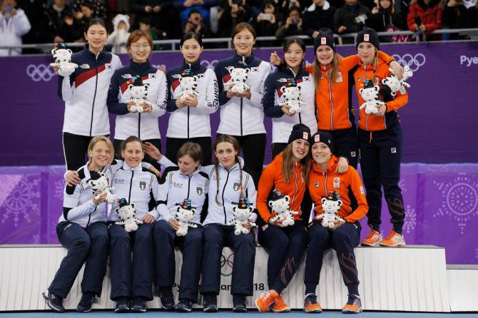 Republic of Korea wins women's 3,000m Team Relay Gold