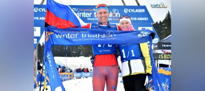Women sport news - Russia claims the first ever 2x2 Wintertri Mixed Relay World title