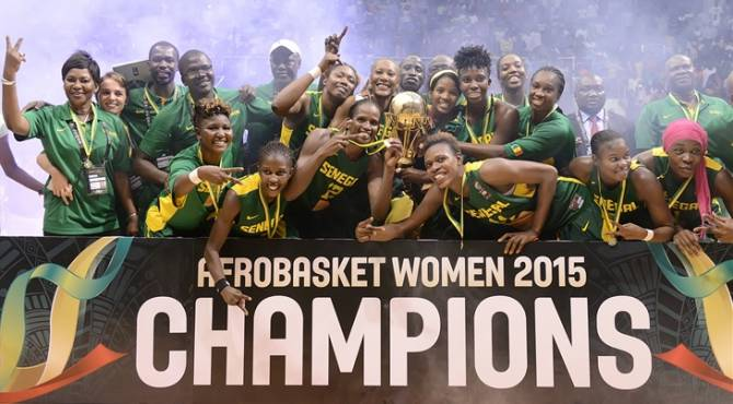 Women sport news - Senegal clinch 11th AfroBasket Women title and qualify for 2016 Rio Olympics