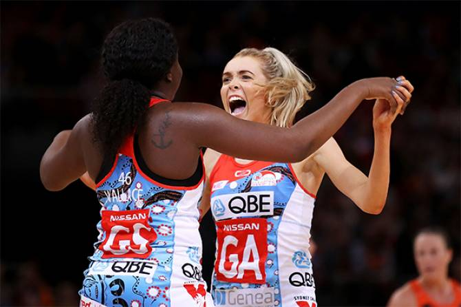 Women sport news - Swifts Shine Bright In Sydney Derby For The Ages