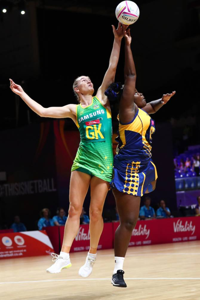Women sport news - The Aussie Diamonds cruise through against Barbados