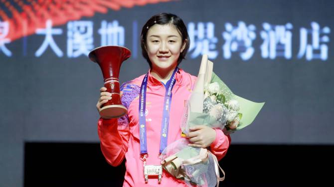 Three in a row, Chen Meng stands alongside Liu Shiwen