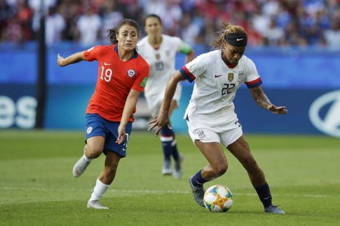 USA defeats Chile 3-0 in women's World Cup soccer